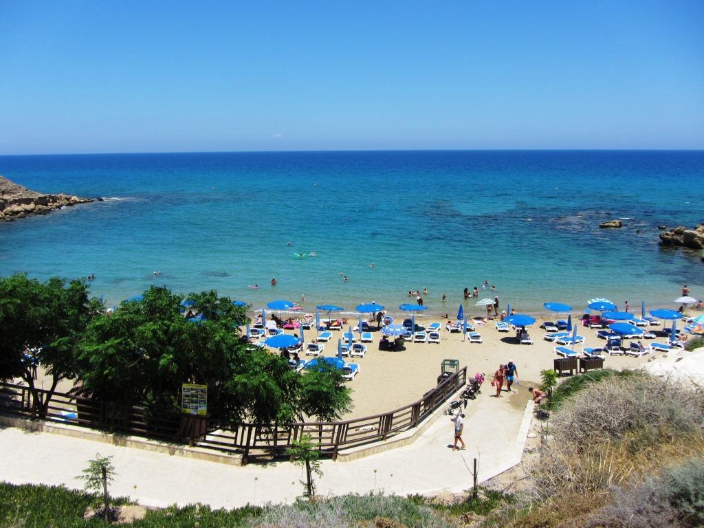 Beach near villa