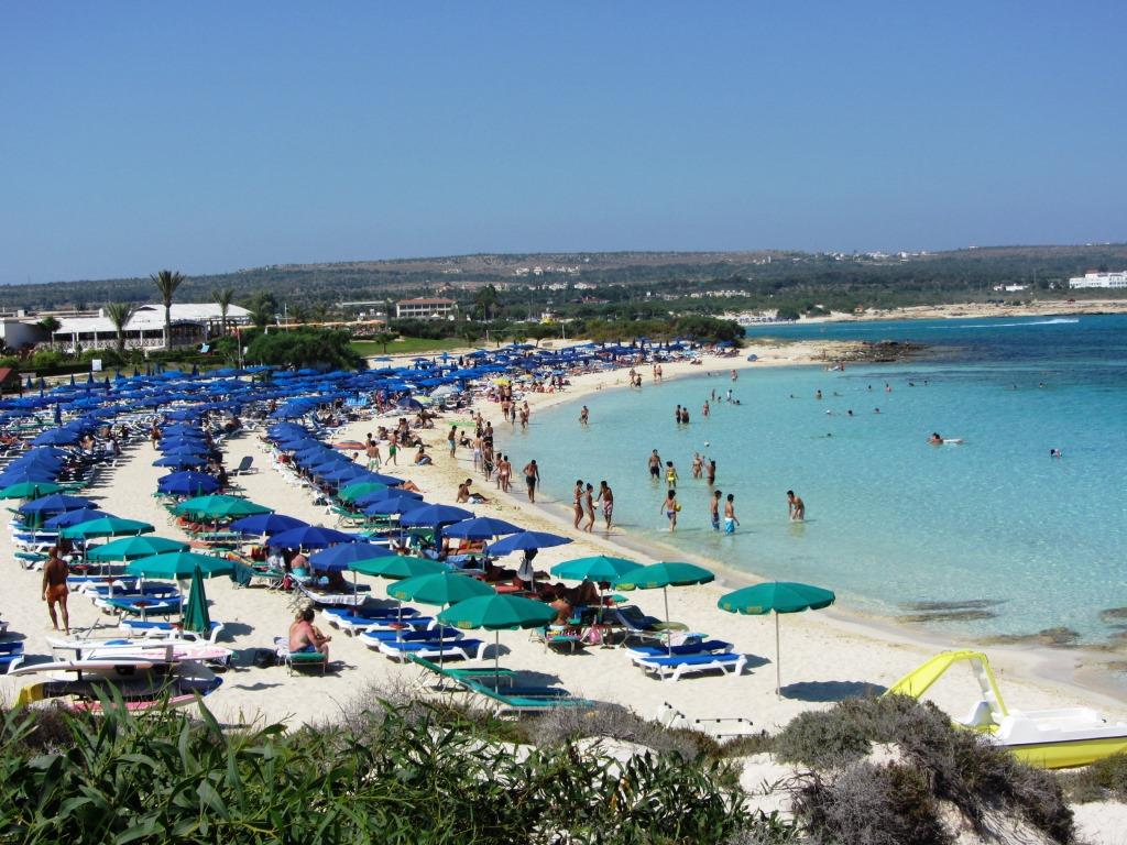 Nissi sandy beach