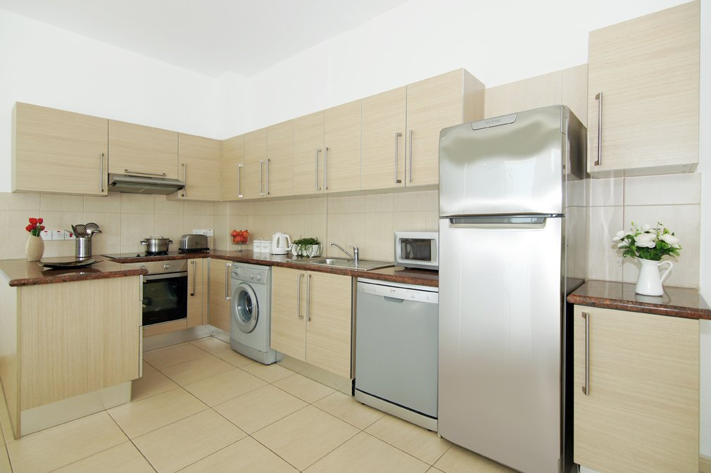 protaras 2 bed apartment kitchen