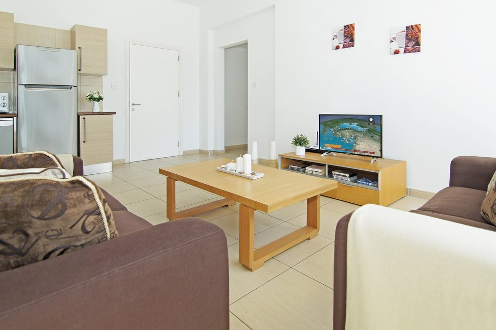 protaras 2 bed tv area